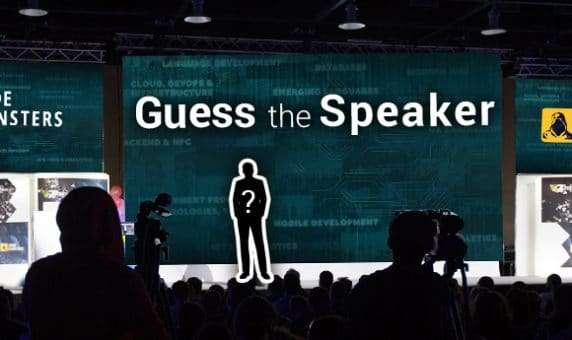 Guess the Speaker and Win a Ticket